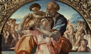 Detail of Michelangelo's Doni Tondo