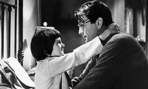 Gregory Peck and Mary Badham in To Kill a Mockingbird>