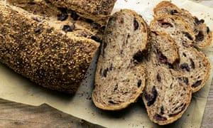 Black olive sesame loaf