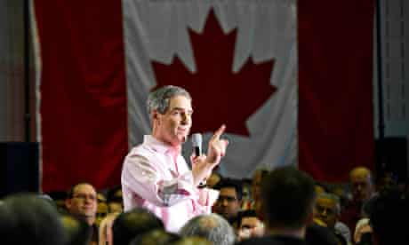 Liberal Party leader Michael Ignatieff speaks at a campaign rally in Scarborough