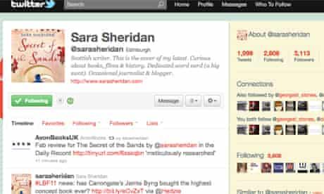 Sheridan has more than 3,000 followers on Twitter