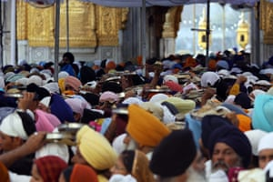 24 hours in pictures: Devotees visit the Golden Temple in Amritsar