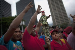 24 hours in pictures: Members of the National Revolutionary Militia in Caracas, Venezuela