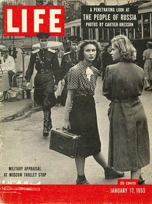 John G. Morris auction: Military Appraisal at Moscow Trolley Stop, 1954(Life Cover)