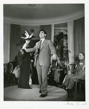 John G. Morris auction: Capa Striking a Pose for Christian Dior, Paris, 1952