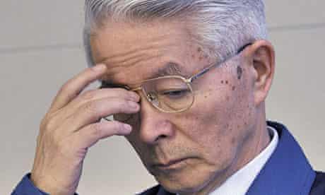 Chair of Japan nuclear operator Tepco, Tsunehisa Katsumata, announces the 'cold shutdown' roadmap