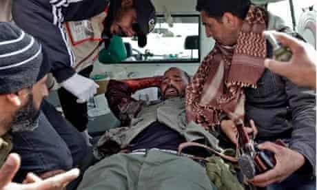 wounded prisoner