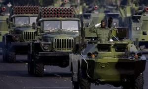 Bay of Pigs anniversary: Cuban military vehicles parade along the Plaza de la Revolucion