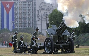 Bay of Pigs anniversary: Cuban military fire a cannon during the festivities