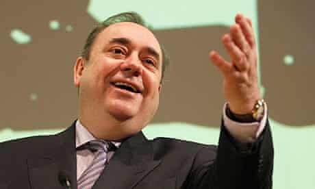 Scotland's first minister and SNP leader Alex Salmond