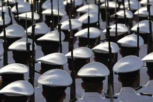 Bay of Pigs anniversary: Cuban troops march during a military parade