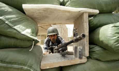 Iraqi soldier near Green Zone in Baghdad, Iraq