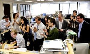 ProPublica newsroom celebrates Pulitzer Prize win