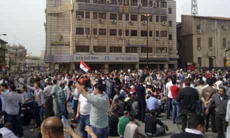Syrians demonstration Homs