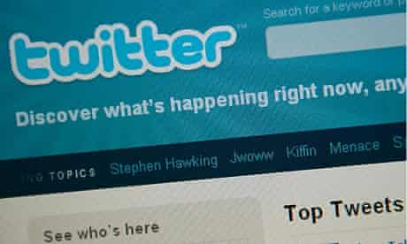 The Twitter homepage