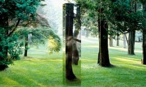 Bright, 2006, a stainless-steel work by John McCracken