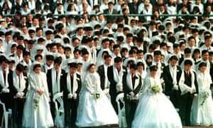 A mass wedding ceremony in Seoul