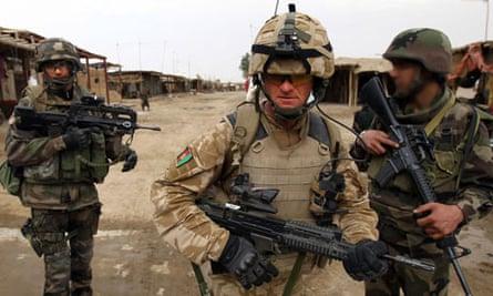 Frontline troops in Afghanistan