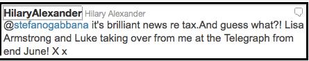 hilary tweet