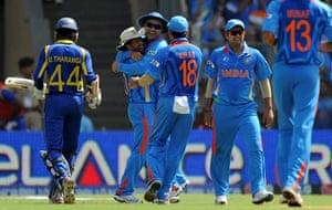 crickworldcup: Indian cricketer Virender Sehwag (C) cel