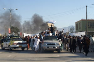 Afghanistan protests: Smoke billows from the UN headquarters a