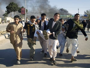 Afghanistan protests: A man wounded following the attack on UN's compound