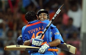 Cricket World Cup: India cricketer Yuvraj Singh and MS Dhoni celebrate winning the World Cup