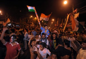 Cricket World Cup: Indian cricket fans celebrate the World Cup victory