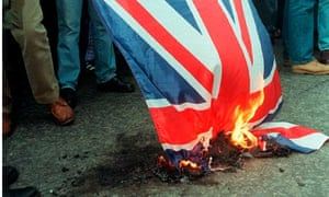burning union flag