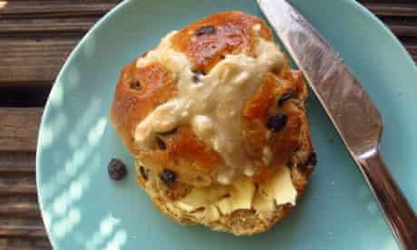 Perfect hot cross bun