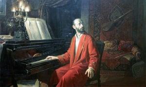Detail of painting of Komitas Vardapet by Sarkis Muradyan
