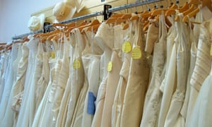Designer discount: dresses at Oxfam's specialist bridal shop in Southampton