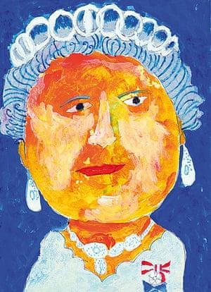 Portrait of the Queen : Portrait of Queen Elizabeth II by Ushoshi Momen