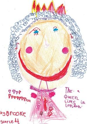 Portrait of the Queen : Portrait of Queen Elizabeth II by Brooke Scarlett