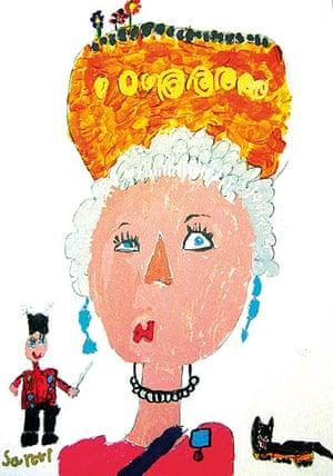 Portrait of the Queen : Portrait of Queen Elizabeth II by Santiago Simonian