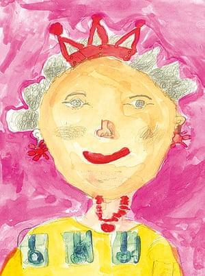 Portrait of the Queen : Portrait of Queen Elizabeth II by Sonny Ku