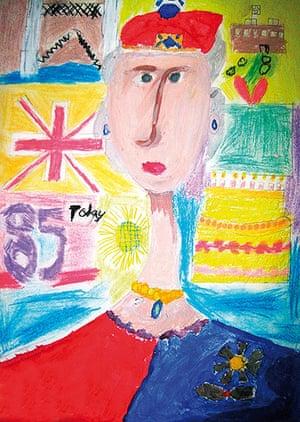 Portrait of the Queen : Portrait of Queen Elizabeth II by Matthew Fenna
