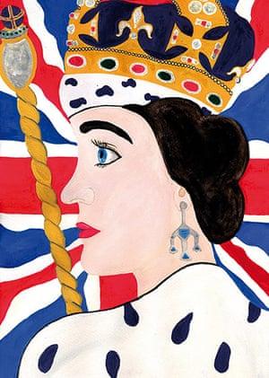 Portrait of the Queen : Portrait of Queen Elizabeth II by Clara Elson