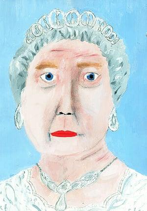 Portrait of the Queen : Portrait of Queen Elizabeth II by Emily Harman