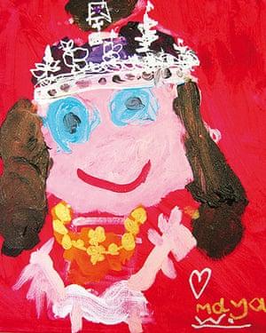 Portrait of the Queen : Portrait of Queen Elizabeth II by Maya Woolf