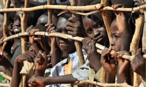 Refugee children from Darfur at a camp in Chad