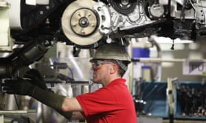 Car Production at Toyota's Derbyshire Plant in the UK