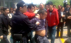 Chinese trucker protest
