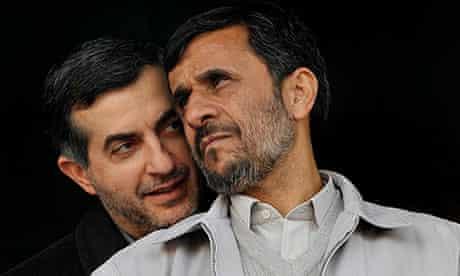 Mahmoud Ahmadinejad and Esfandiar Rahim Mashaei in iran