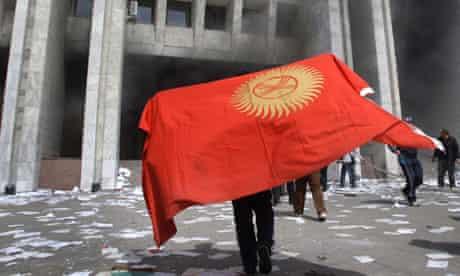 A Kyrgyyz protester