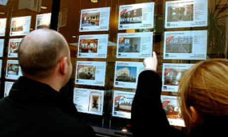 Property for sale in an estate agent's window