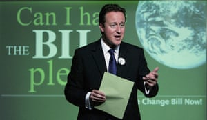 Tory green policy: David Cameron Launches Climate Change Policy
