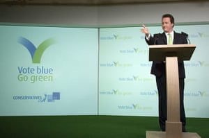 Tory green policy: David Cameron launches the final phase of local election campaign