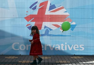 Tory green policy: Party Members Begin To Arrive At The Annual Conservative Party Conference