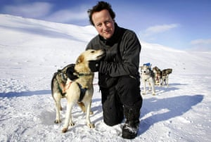Tory green policy: Cameron, leader of Britain's Conservative Party on Svalbard